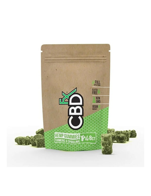 CBDfx Gummies met CBD, Kurkuma & Spirulina 8 stuks