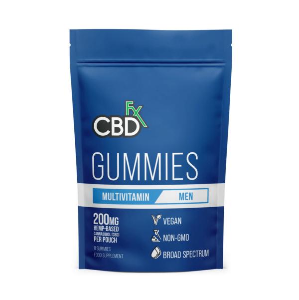 CBD +FX Multivitamine Gummies 40mg 8stuks Blauw