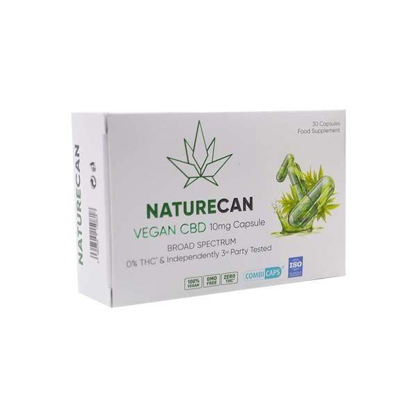 NatureCan Vegan CBD Capsules 10mg per capsule 30 stuks