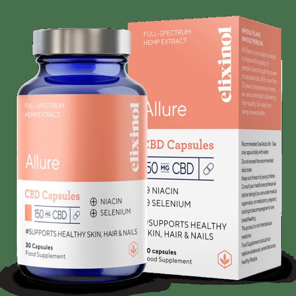 Elixinol Full Spectrum CBD Capsules Allure 150mg 30 Capsules
