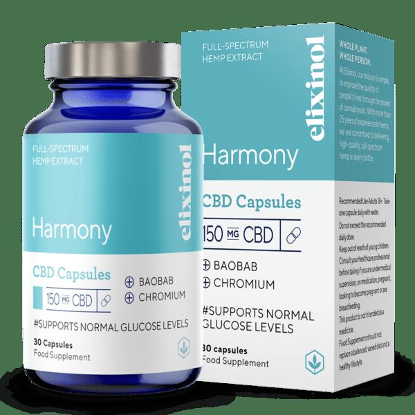 Elixinol Full Spectrum CBD Capsules Harmony 150mg 30 Capsules
