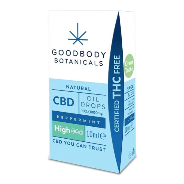 Goodbody Botanicals CBD Olie Druppels Pepermunt High 1000mg 10ml