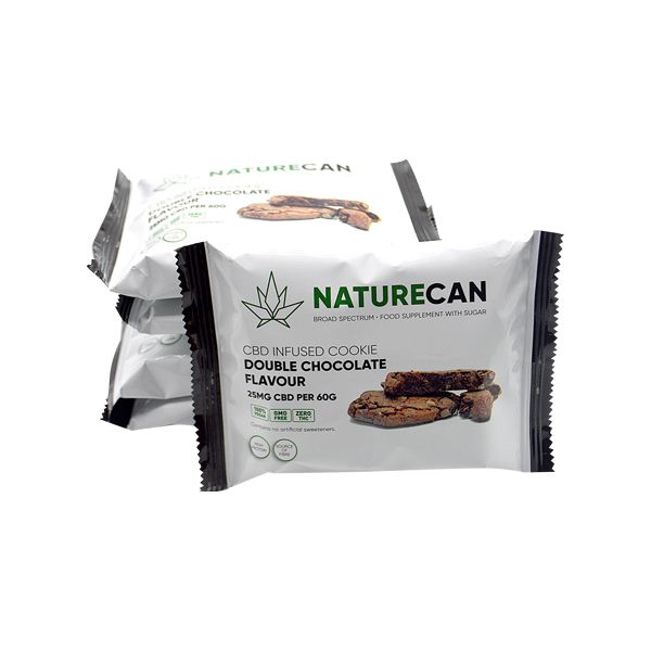 Naturecan CBD Proteïne Cookie 25mg 60g dubbel chocolade