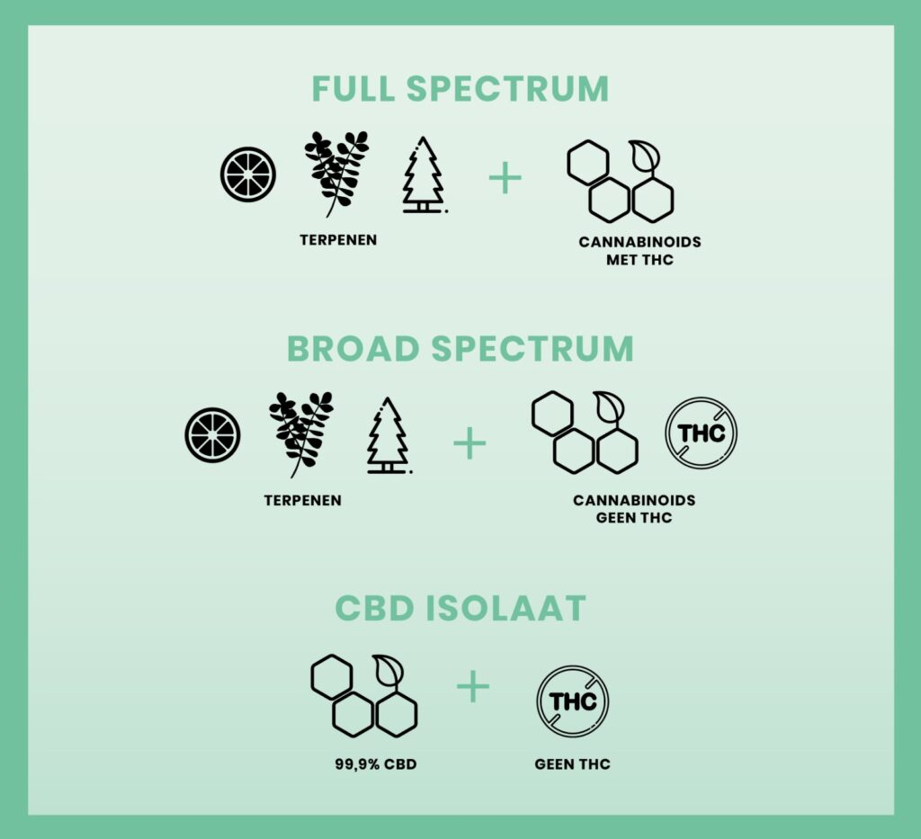Full Spectrum, Broad Spectrum & CBD-isolaat: wat is het verschil?